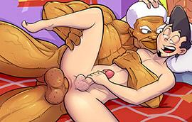 Socando fundo no cuzinho virgem
