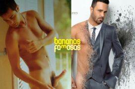 Ator Rodrigo Phavanello pelado mostrando a banana