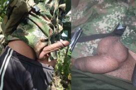 Militares mostrando o pênis grande e duro